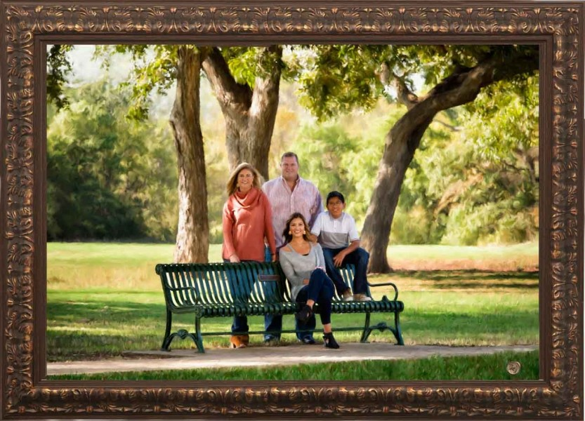 A scenic studio portrait created by Isabelle Guillen in Plano, T