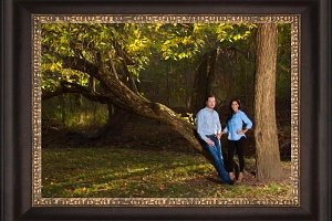 Late Fall Family Portrait by Isabelle Guillen, Portrait Artist in Dallas Metroplex
