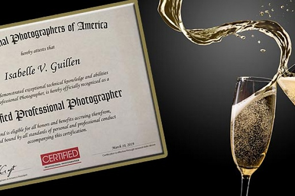 Isabelle Guillen is a Certified Professional Photographer (CPP) by PPA.