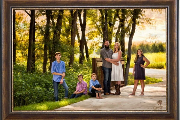 Late Summer Family Portrait by Isabelle Guillen, Portrait Artist in Dallas Metroplex
